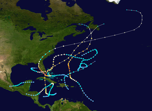 1935 Atlantic hurricane season - Image: 1935 Atlantic hurricane season summary map