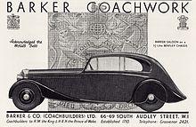 1935 Bentley 3.5 Litre Barker Saloon (13883995027).jpg