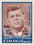 1964 stamp of Ajman JFK 8.jpg
