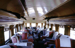 Nebraska Zephyr - The interior of the observation car Jupiter in January 1968, just prior to retirement.