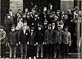 1972- Some of JFK Jr's 6th grade classmates make fascist salutes behind his back.jpg