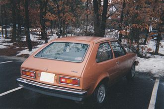 Chevrolet Chevette - 1977 Chevrolet Chevette two-door hatchback