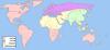 מפה מדינית של העולם המתואר בספר