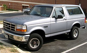 1992-1996 Ford Bronco photographed in USA.