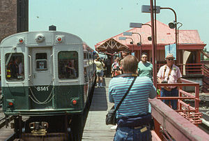 University station (CTA) - University station in June 1992
