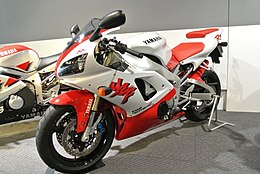 1998 Yamaha YZF-R1 in the Yamaha Communication Plaza.JPG