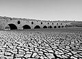 19th century bridge submerged in the Pego do Altar reservoir, here exposed during a severe drought, Santa Susana, Portugal (PPL2-Enhanced) julesvernex2.jpg