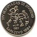 1 песо. Куба. 1983. XIV зимние Олимпийские игры, Сараево 1984 - Хоккей.jpg