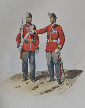 Bengal Army - Soldiers of the 1st European Bengal Fusiliers, pre-1862