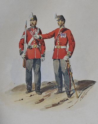 101st Regiment of Foot (Royal Bengal Fusiliers) - Soldiers of the 1st Bengal European Fusiliers, c.1850