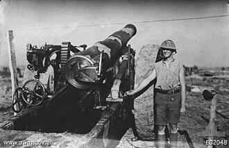 1st Siege Artillery Battery (Australia) - Image: 1st Aust Siege Bty (AWM E02048)