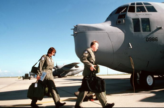 1st Expeditionary Rescue Group - 1st Rescue Group crew approaching their HC-130P