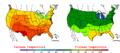 2006-06-13 Color Max-min Temperature Map NOAA.png