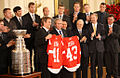 2008 Red Wings at White House with President Bush and Stanley Cup.jpg
