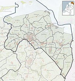 Location of Oostwold on a map of Groningen (province)