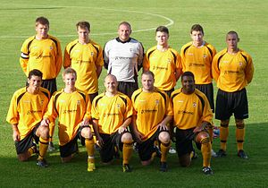 Isle of Wight official football team - Starting XI in the 2011 Island Games football final held at St Georges Park, Newport, Isle of Wight vs Guernsey