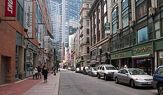 Downtown Crossing Shopping district in Boston, Massachusetts, United States