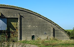 Hullavington Airfield - Hangar at the former RAF Hullavington in 2012