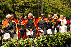 Hawaiian sovereignty movement - Members of the Royal Order of Kamehameha I in 2012.