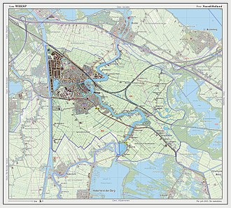 Weesp - Topographic map of Weesp, July 2013