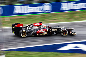 Lotus F1 - Kimi Räikkönen racing during the 2013 Italian Grand Prix.