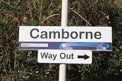 2013 at Camborne station - platform sign.jpg