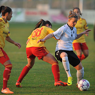 SV Neulengbach - Playing against Tyresö in the UEFA Women's Champions League quarter-final, March 2014