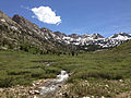 2014-06-23 14 06 41 View up Lamoille Creek where it passes under Lamoille Canyon Road in the upper portion of Lamoille Canyon, Nevada.JPG