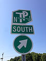 2014-08-27 10 53 54 Sign for the New Jersey Turnpike at the Red Lion Circle in Southampton Township, New Jersey.JPG