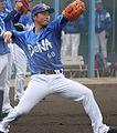 20140202 Masayoshi Kato, infielder of the Yokohama DeNA BayStars, at Yokohama DeNA BayStars Baseball Integrated training field.JPG