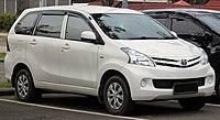 2014 Toyota Avanza 1.3 E wagon (F651RM; 01-28-2019), South Tangerang.jpg