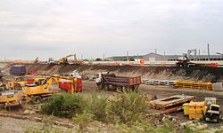 2014 at Reading Viaduct - levelling the east ramp.JPG