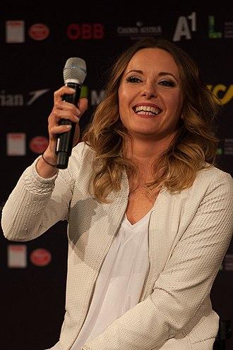Poland in the Eurovision Song Contest 2015 - Monika Kuszyńska at a press meet and greet