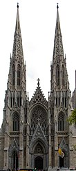 St. Patrick's Cathedral is the largest neo-Gothic cathedral in the United States.