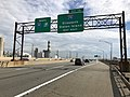 2018-06-20 08 55 09 View north along Interstate 95 (New Jersey Turnpike) just south of Exit 13 (Interstate 278, Elizabeth, Staten Island) in Linden, Union County, New Jersey.jpg