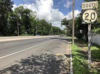 New Jersey Route 20 - View south along Route 20 between 36th Street and 37th Street in Paterson