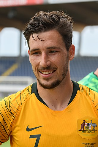 Mathew Leckie - Leckie with Australia in 2018