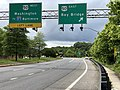 2020-06-20 16 07 13 View north along Maryland State Route 70 (Rowe Boulevard) at the exit for U.S. Route 50 EAST (Bay Bridge) in Parole, Anne Arundel County, Maryland.jpg