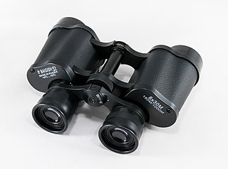 Binoculars Pair of telescopes mounted side-by-side
