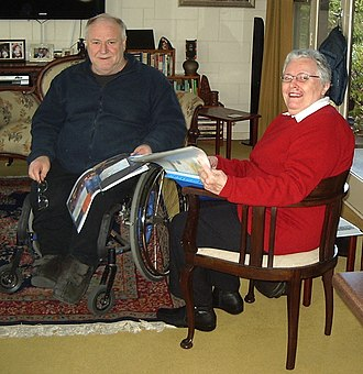 Janet Tyler (nurse) - South Australian Paralympian Kevin Munro and Janet Tyler reminisce at a reunion of the South Australian members of the 1968 Australian Paralympic team in Adelaide in June 2013.