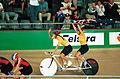 231000 - Cycling track Tania Modra Sarnya Parker Australian flag 3 - 3b - 2000 Sydney race photo.jpg