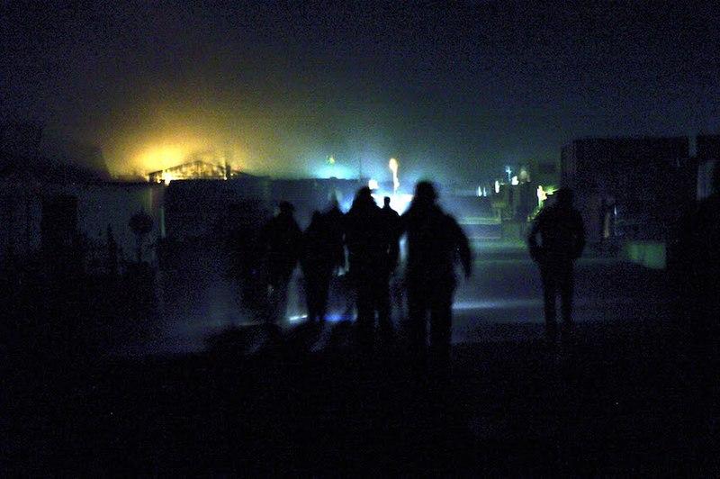 File:2PARA Gold 32.jpg Description English: 2 PARA walking through Camp Bastion at night, Helmand Province, Afghanistan - 2011