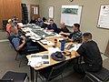 2 JuneTrafficIncidentMgmt meeting with EmergencyResponders I5 CABorderAshlandPaving (48190599522).jpg