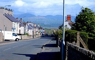 Newborough, Anglesey - Newborough with Snowdonia in background