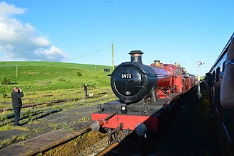 Carnforth MPD - Image: 5972 Olton Hall at Hellifield