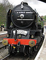 60163 Tornado steam locomotive on the North Yorkshire Moors Railway at Pickering station 4 May 2009 pic 2.jpg