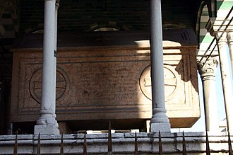 Accursius - The grave for Accursius and for his son Franciscus, in Bologna, Italy.