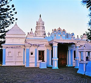 Hinduism in South Africa - A Hindu Temple in Durban, South Africa.