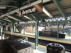 Ninth Avenue (BMT West End Line) - Image: 9th Avenue (West End)