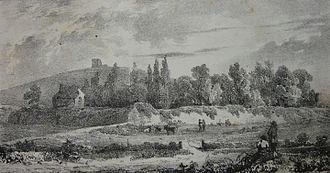Chateau des Marais, Guernsey - Chateau des Marais in 1826